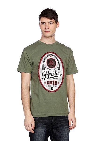 Футболка Burton Mns Microbrew Loam<br><br>Цвет: зеленый<br>Тип: Футболка<br>Возраст: Взрослый<br>Пол: Мужской