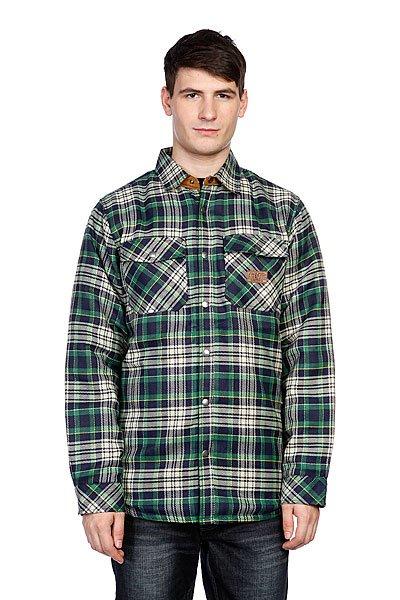 Рубашка утепленная Analog Variant Reversible Navy Blue<br><br>Цвет: зеленый,черный<br>Тип: Рубашка утепленная<br>Возраст: Взрослый<br>Пол: Мужской