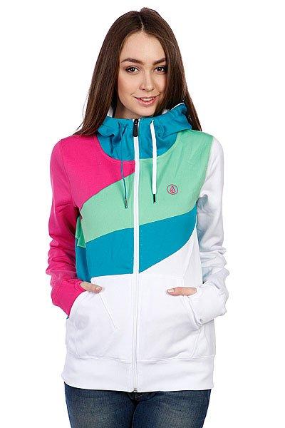 Толстовка сноубордическая женская Volcom Diamond Hydro Fleece White Proskater.ru 3009.000