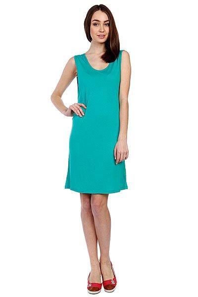 Платье женское Volcom Stone Only Tee Dress Bright Turquoise<br><br>Цвет: зеленый<br>Тип: Платье<br>Возраст: Взрослый<br>Пол: Женский