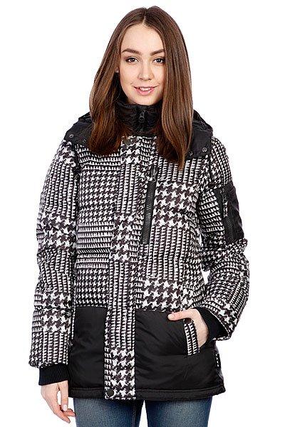 Куртка зимняя женская Burton Lamb Down Jk Big HoundstoothТехнические характеристики: Легкий утеплитель.  Верх из 100% полиэстера.  Внутренняя нейлоновая подкладка.   Застежка – молния по всей длине.  Съемный капюшон на молнии с утяжкой. Эластичные лайкровые манжеты на рукавах.  Два боковых прорезных  кармана для рук на кнопках. Внутренний потайной карман на молнии. Фасон: стандартный (regular  fit).<br><br>Цвет: белый,черный<br>Тип: Куртка зимняя<br>Возраст: Взрослый<br>Пол: Женский
