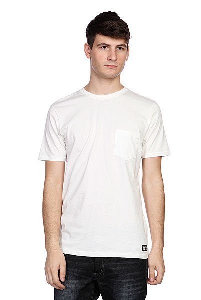 Футболка Element Basic Cr Pocket Ss F Off White<br><br>Цвет: белый<br>Тип: Футболка<br>Возраст: Взрослый<br>Пол: Мужской