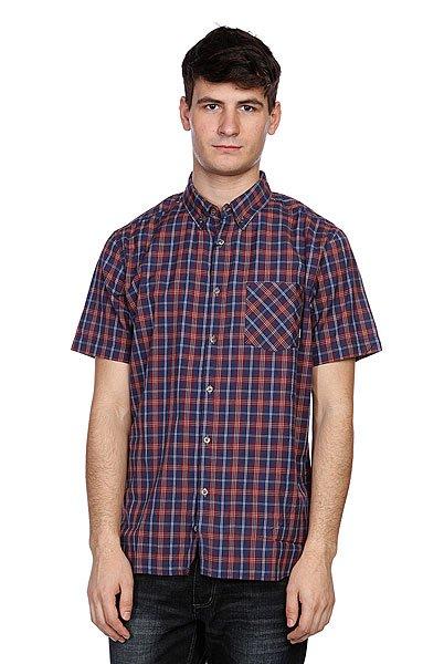 Рубашка в клетку Element Sutton Ss Dark Denim<br><br>Цвет: синий<br>Тип: Рубашка в клетку<br>Возраст: Взрослый<br>Пол: Мужской