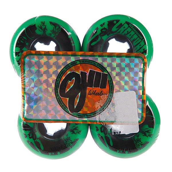 Колеса для скейтборда для лонгборда Oj Iii Bloodsuckers Green Black 97a 52 mm