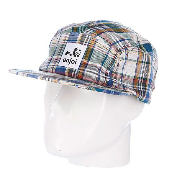 Бейсболка пятипанелька Enjoi Plamper Hat Multi<br><br>Цвет: белый,зеленый,синий<br>Тип: Бейсболка пятипанелька<br>Возраст: Взрослый