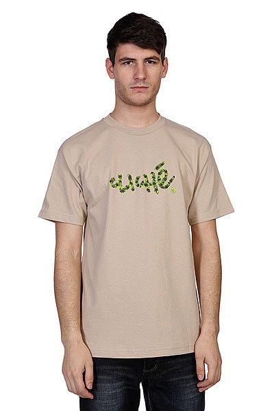 Футболка Cliche Handwritten Leaf Camo Sand<br><br>Цвет: бежевый,камуфляжный<br>Тип: Футболка<br>Возраст: Взрослый<br>Пол: Мужской
