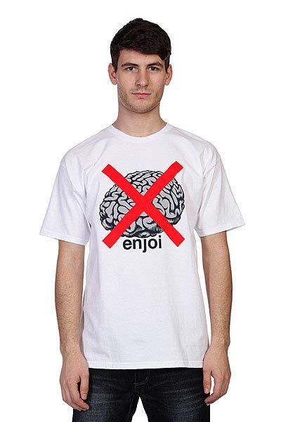 Футболка Enjoi No Brainer White<br><br>Цвет: белый<br>Тип: Футболка<br>Возраст: Взрослый<br>Пол: Мужской