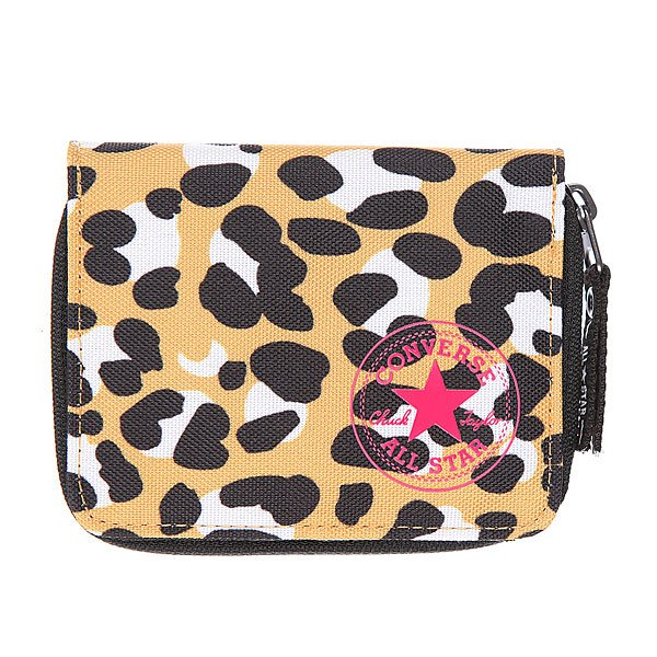 Кошелек женский Converse Wallet Pb Leopard Orange/Black Proskater.ru 1200.000