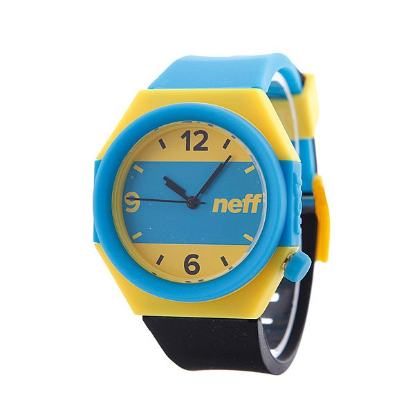 Часы Neff Stripe Cyan/Yellow/Black
