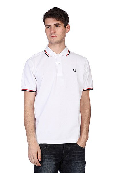 Поло Fred Perry Twin Tipped Fred Perry Shirt White поло детское fred perry my first fred perry shirt black