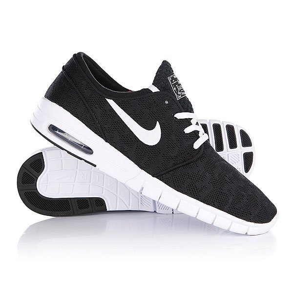Кеды кроссовки Nike Stefan Janoski Max Black/White кеды кроссовки низкие nike zoom stefan janoski prem txt black white green glow