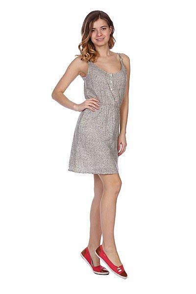 Платье женское Roxy My Favorite StoneСтильный принт и женственный силуэт. Сзади платье украшено пуговками. Название говорит само за себя: это платье обязательно станет Вашим любимым!Характеристики:Эластичная резинка на талии. Свободный крой.<br><br>Цвет: бежевый,черный<br>Тип: Платье<br>Возраст: Взрослый<br>Пол: Женский