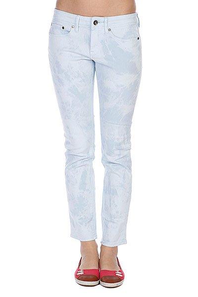 Джинсы узкие женские Roxy Suntrippers Tie-dye Wan Blue
