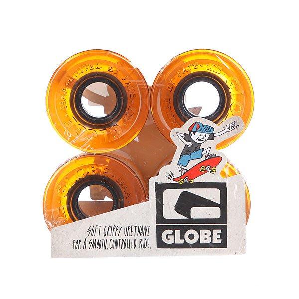 Колеса для скейтборда Globe Bantam St Wheel Clear Amber 59mm 83A<br><br>Цвет: оранжевый<br>Тип: Колеса