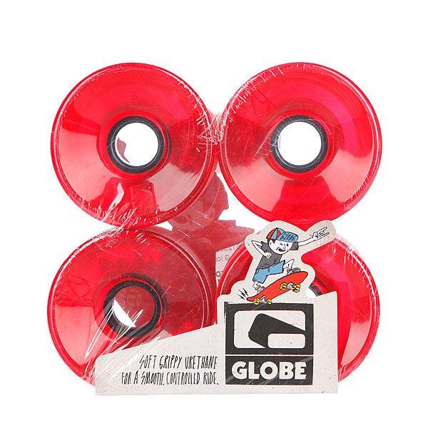 Колеса для скейтборда Globe G Icon Wheel Clear Red 76mm 83A