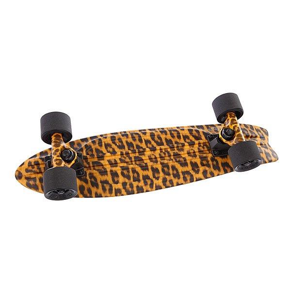Скейт мини круизер Globe Bantam St Graphic Leopard 23 (58.4 см)Ширина деки:6(15.2 см)Длина деки:23(58 см)В комплект входит:Дека Globe BantamПодвески SlantКолеса Globe 59 мм 83AПодшипники Globe Abec-7Винты<br><br>Тип: Скейт мини круизер
