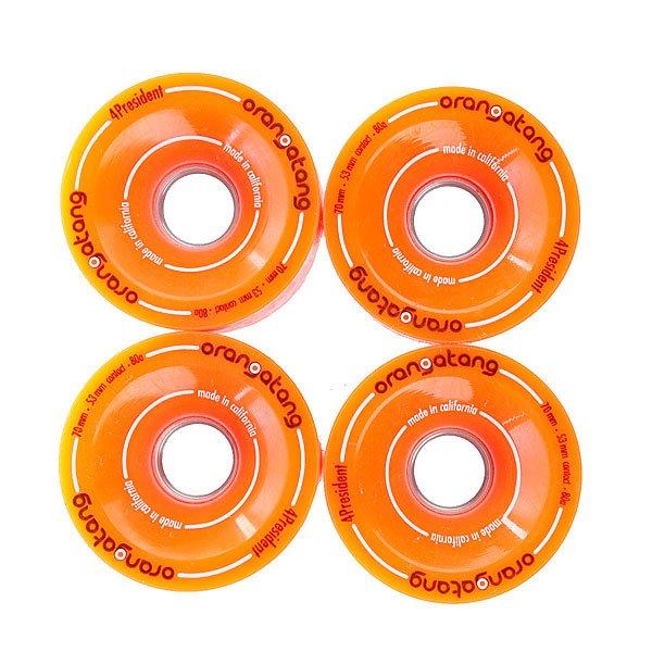 Колеса для скейтборда  President Race Wheel Aluminum Core Orange 70mm 80А Orangatang. Цвет: оранжевый