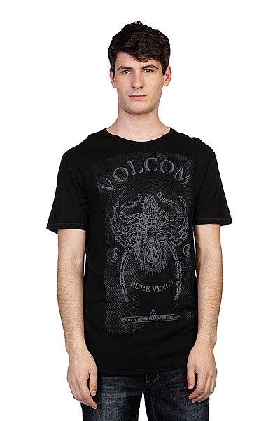 Футболка Volcom Pure Venom Lt Ss Black<br><br>Цвет: черный<br>Тип: Футболка<br>Возраст: Взрослый<br>Пол: Мужской
