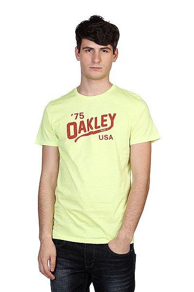 Футболка Oakley Oakey Legs Tee Neon Yellow<br><br>Цвет: желтый<br>Тип: Футболка<br>Возраст: Взрослый<br>Пол: Мужской