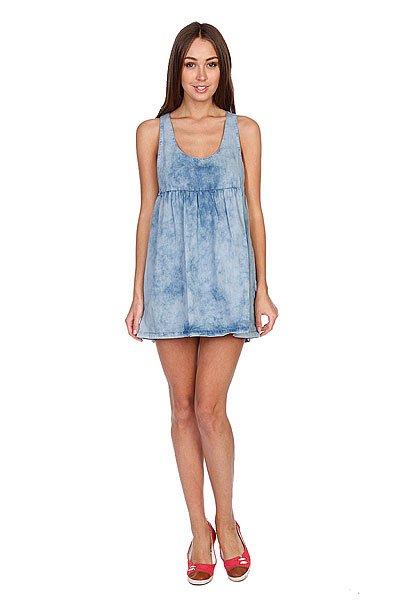 Платье женское Volcom Ur A Pistol Dress Chambray<br><br>Цвет: синий<br>Тип: Платье<br>Возраст: Взрослый<br>Пол: Женский
