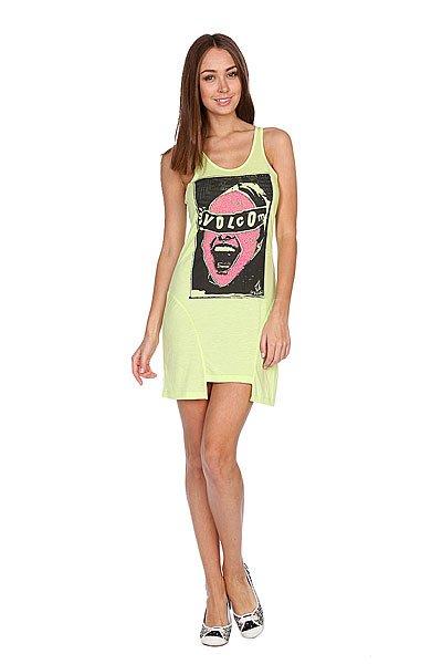 Майка женская Volcom Famous Tunic Tank Lime<br><br>Цвет: зеленый<br>Тип: Майка<br>Возраст: Взрослый<br>Пол: Женский