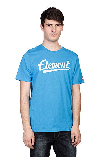 Футболка Element Signature Ss Swedish Blue футболка element city rise ss r total eclipse