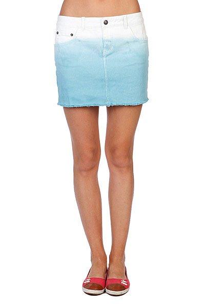 Юбка женская Rip Curl Beverly Skirt Dark Denim<br><br>Цвет: белый,голубой<br>Тип: Юбка<br>Возраст: Взрослый<br>Пол: Женский