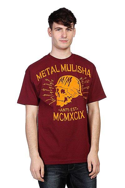 Футболка Metal Mulisha Black Head Burgundy<br><br>Цвет: красный<br>Тип: Футболка<br>Возраст: Взрослый<br>Пол: Мужской