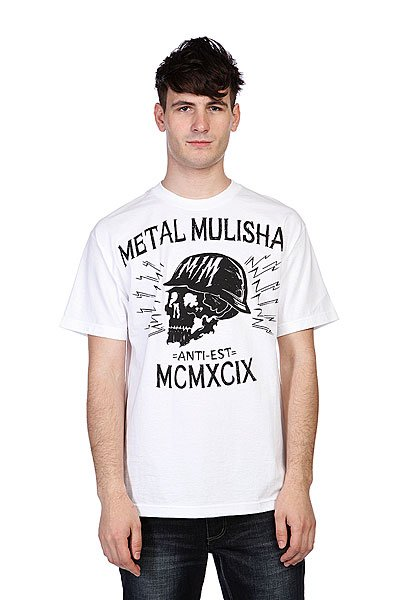 Футболка Metal Mulisha Black Head Optic White metal mulisha футболка metal mulisha quartered black