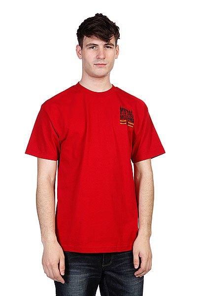 Футболка Metal Mulisha Brand Cardinal<br><br>Цвет: красный<br>Тип: Футболка<br>Возраст: Взрослый<br>Пол: Мужской