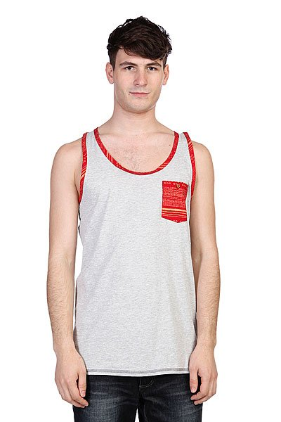 Майка Altamont Chute Tank Grey/Heather майка independent fountain tank white heather grey