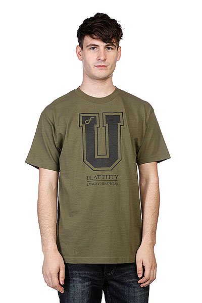 Футболка Flat Fitty Uni05 Army<br><br>Цвет: зеленый<br>Тип: Футболка<br>Возраст: Взрослый<br>Пол: Мужской