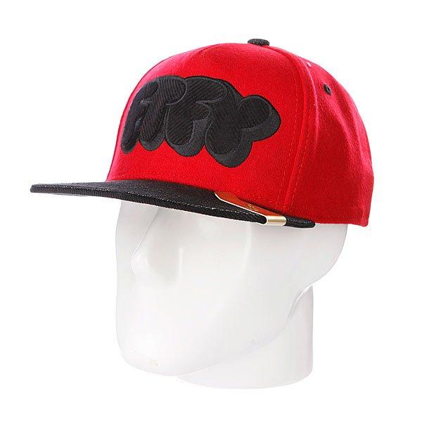 Бейсболка Flat Fitty Pop Type Red<br><br>Тип: Бейсболка с прямым козырьком<br>Возраст: Взрослый