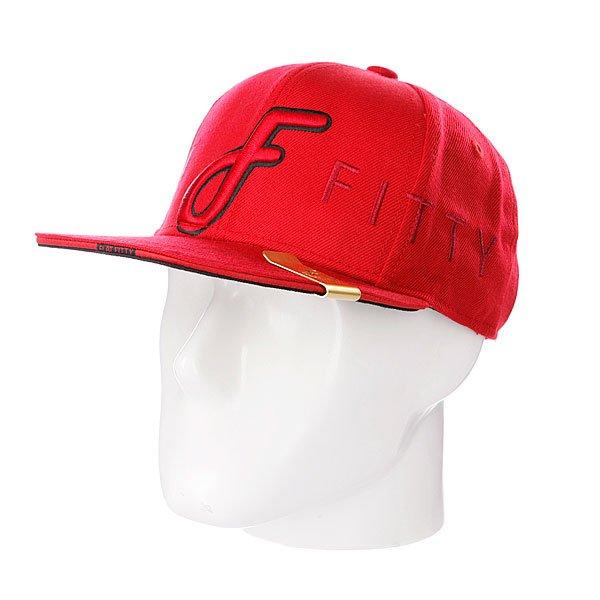 Бейсболка Flat Fitty Ff Wrap Red<br><br>Тип: Бейсболка с прямым козырьком<br>Возраст: Взрослый