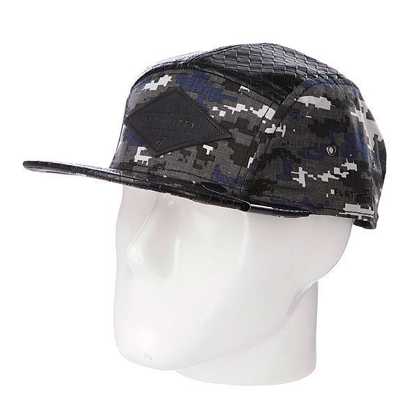 бе-йсболка-пятипане-лька-flat-fitty-camo-snake-black-grey-digi-camo