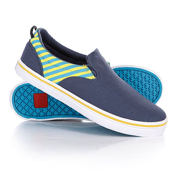 Слипоны детские Quiksilver Little Foundation Blu/Yelllow/White Proskater.ru 1299.000