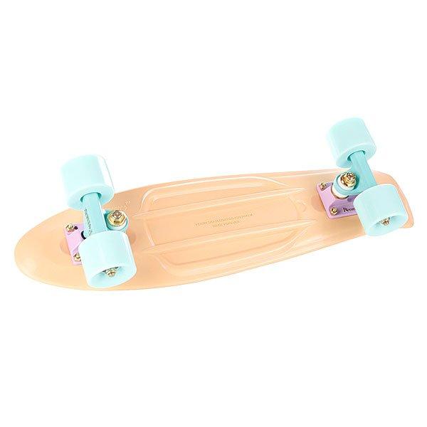 """Скейт мини круизер Penny Original Pastels Peach 22 (55.9 см)Обновленная модель, представленная в новых сладких оттенках.Подвеска: &amp;nbsp;4"""" powder-coated PennyКолеса: &amp;nbsp;59мм/78АПодшипники: ABEC 7<br><br>Тип: Скейт мини круизер"""