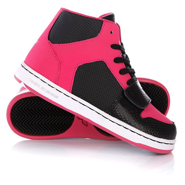 Кеды кроссовки высокие детские Creative Recreation Y Cesario Black/Hot Pink Proskater.ru 1009.000