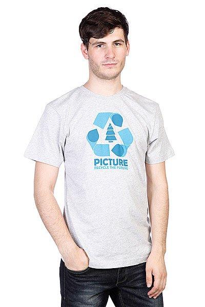 Футболка Picture Organic Recycled Grey Melange<br><br>Цвет: серый<br>Тип: Футболка<br>Возраст: Взрослый<br>Пол: Мужской