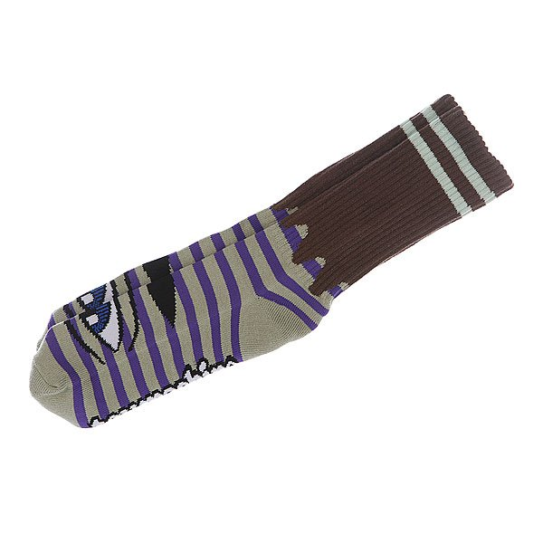 Носки средние Toy Machine Sect Eye Stripe Green/Purple