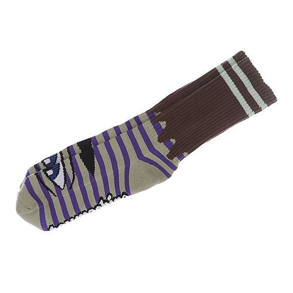 Носки средние Toy Machine Sect Eye Stripe Green/Purple<br><br>Цвет: серый,фиолетовый<br>Тип: Носки средние<br>Возраст: Взрослый<br>Пол: Мужской