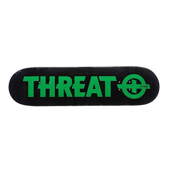Дека для скейтборда  S4 Standard Green 8.25 (21 см) Threat. Цвет: черный