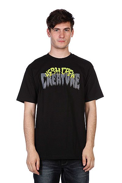 Майка Creature Hesh Crew Black<br><br>Цвет: черный<br>Тип: Майка<br>Возраст: Взрослый<br>Пол: Мужской