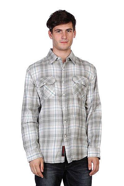 Рубашка в клетку Independent Master White/Grey/Blue<br><br>Цвет: серый<br>Тип: Рубашка в клетку<br>Возраст: Взрослый<br>Пол: Мужской