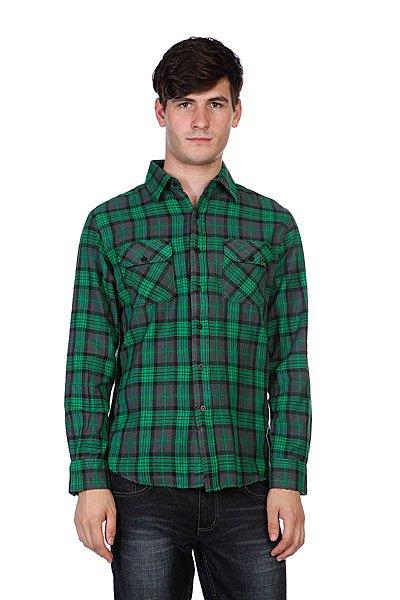 Рубашка в клетку Creature Hannibal Green/Grey/Black Plaid<br><br>Цвет: зеленый<br>Тип: Рубашка в клетку<br>Возраст: Взрослый<br>Пол: Мужской