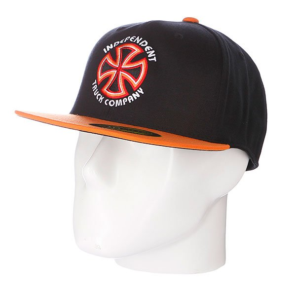 Бейсболка Flexfit Independent Bauhaus Cross Flexfit Black/Orange бейсболка flexfit independent stock o g b c  flexfit black