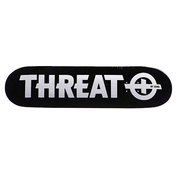 Дека для скейтборда  S4 Standard White 8 (20.3 см) Threat. Цвет: черный