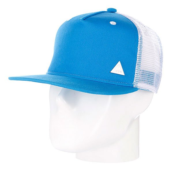 Бейсболка с сеткой True Spin 2 Tone Blank Trucker Cap Cyan/White<br><br>Цвет: белый,синий<br>Тип: Бейсболка с сеткой<br>Возраст: Взрослый
