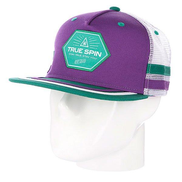 Бейсболка с сеткой True Spin Sport Trucker Purple/White<br><br>Цвет: зеленый,фиолетовый<br>Тип: Бейсболка с сеткой<br>Возраст: Взрослый<br>Пол: Мужской