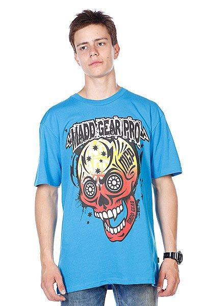 Футболка MGP T-shirt Muerte Skull Blue  футболка mgp t shirt corpo skull black white